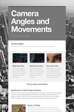 Camera Angles and Movements