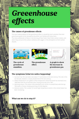 Greeenhouse effects