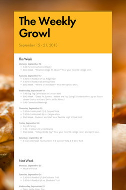 The Weekly Growl