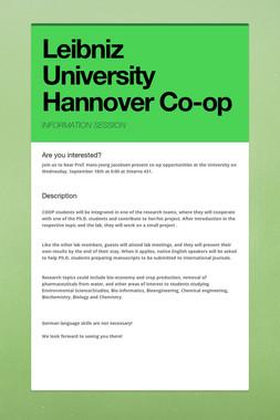 Leibniz University Hannover Co-op