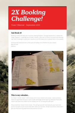 2X Booking Challenge!