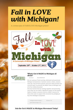 Fall in LOVE with Michigan!
