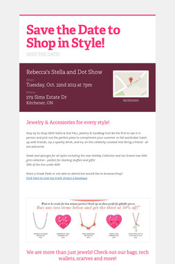 Save the Date to Shop in Style!