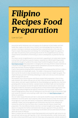 Filipino Recipes Food Preparation