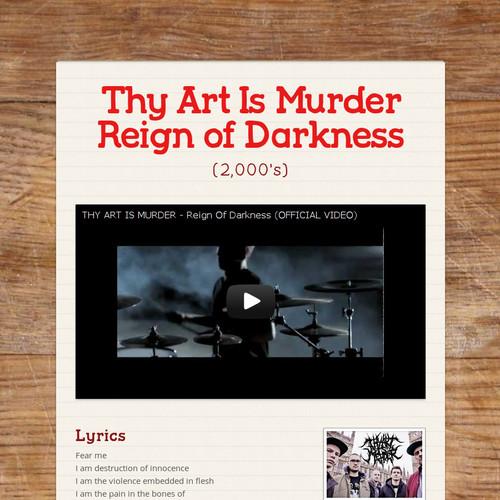 Thy Art Is Murder Reign of Darkness