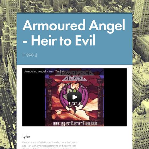 Armoured Angel - Heir to Evil