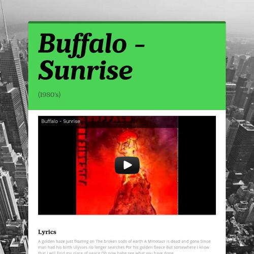 Buffalo - Sunrise