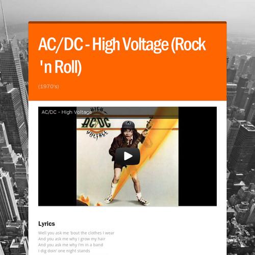 AC/DC - High Voltage (Rock 'n Roll)