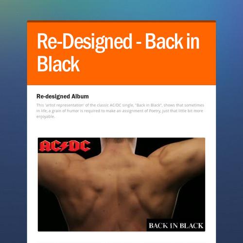 Re-Designed - Back in Black