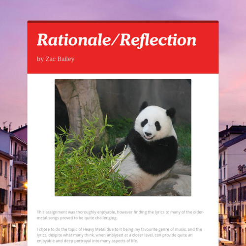 Rationale/Reflection