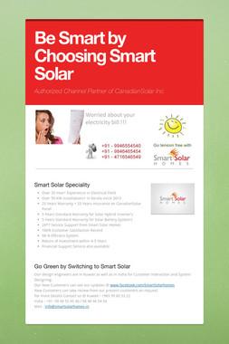 Be Smart by Choosing Smart Solar
