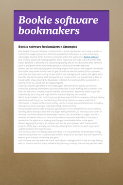 Bookie software bookmakers