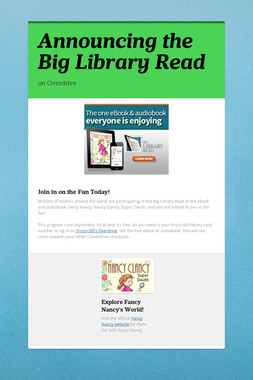 Announcing the Big Library Read