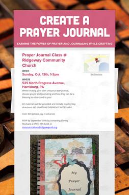 Create a Prayer Journal