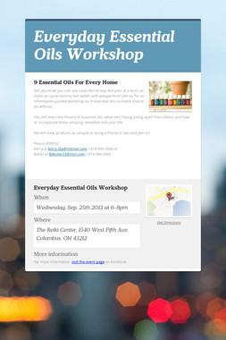 Everyday Essential Oils Workshop