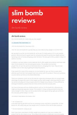 slim bomb reviews