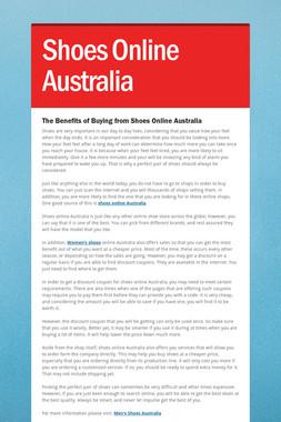 Shoes Online Australia