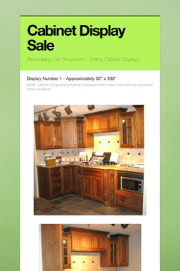 Cabinet Display Sale