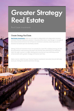 Greater Strategy Real Estate