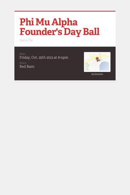 Phi Mu Alpha Founder's Day Ball
