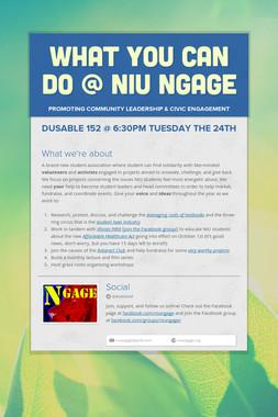 What YOU Can Do @ Niu NGAGE