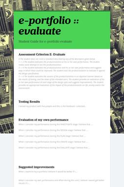 e-portfolio :: evaluate