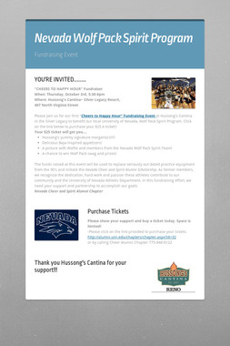 Nevada Wolf Pack Spirit Program