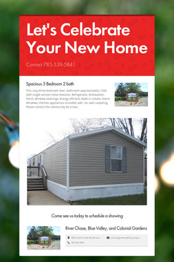 Let's Celebrate Your New Home