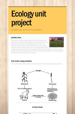 Ecology unit project
