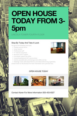 OPEN HOUSE TODAY FROM 3-5pm