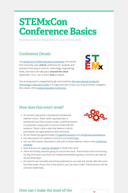 STEMxCon Conference Basics