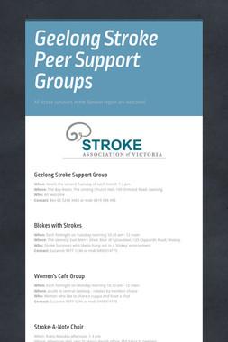 Geelong Stroke Peer Support Groups