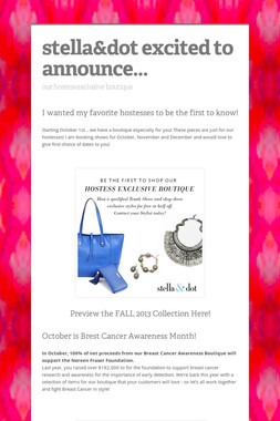 stella&dot excited to announce...