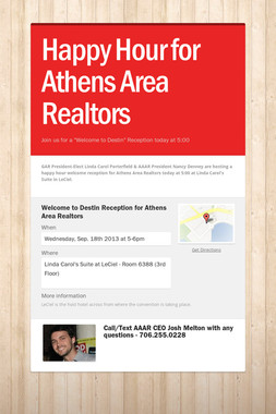 Happy Hour for Athens Area Realtors