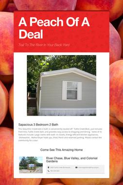 A Peach Of A Deal