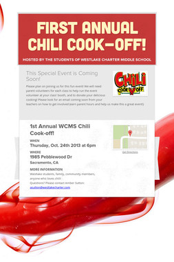 First Annual Chili Cook-off!