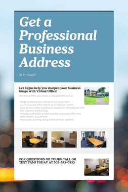 Get a Professional Business Address