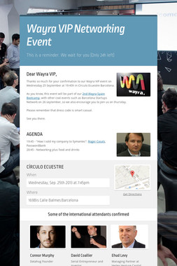 Wayra VIP Networking Event