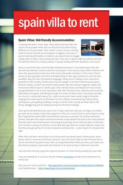 spain villa to rent
