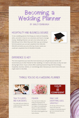 Becoming a Wedding Planner