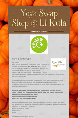 Yoga Swap Shop @ LI Kula