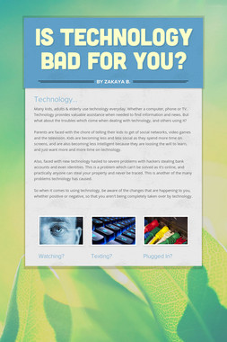 Is Technology Bad For You?