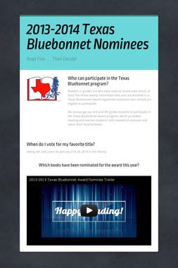2013-2014 Texas Bluebonnet Nominees