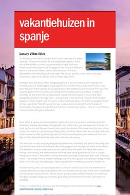 vakantiehuizen in spanje