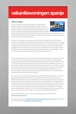 vakantiewoningen spanje