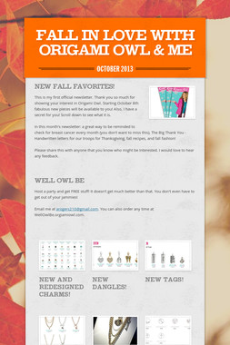 Fall in Love with Origami Owl & Me