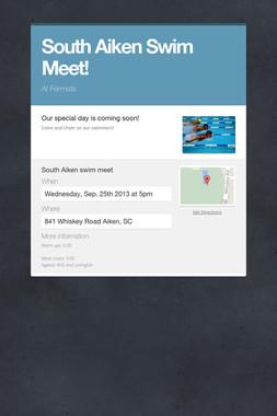South Aiken Swim Meet!