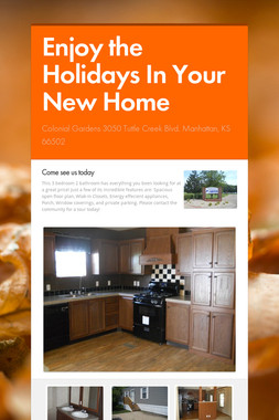 Enjoy the Holidays In Your New Home