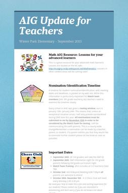 AIG Update for Teachers
