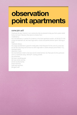 observation point apartments